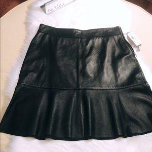 Uniform Leather Skirt